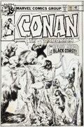 Original Comic Art:Covers, John Buscema Conan the Barbarian #94 Cover Original Art(Marvel, 1979)....