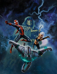 Alex Horley Comics Buyer's Guide #1609 Cover and Cover Preliminary Sketch Original Art (Krause Publications, 2005)... (T...