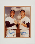 Baseball Collectibles:Photos, Circa 1980 Roger Maris & Mickey Mantle Signed Photograph. ...