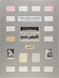 Baseball Collectibles:Others, 1937 New York Yankees Team Signed Display....