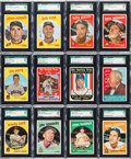 Baseball Cards:Lots, 1959 Topps Baseball SGC 96 Mint 9 Graded Collection (12). ...