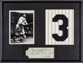 Autographs:Checks, 1937 Babe Ruth Signed Check, PSA/DNA NM-MT 8. ...
