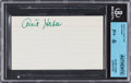 """Football Collectibles:Others, Arnie Herber Signed Index Card, Beckett/JSA . """"Authentic""""...."""