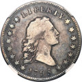 Early Half Dollars, 1795 50C 2 Leaves, Small Head, O-128, T-18, High R.5, Fine 12NGC....