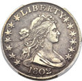 Early Half Dollars, 1802 50C O-101, T-1, R.3 -- Scratched -- PCGS Genuine. XFDetails....