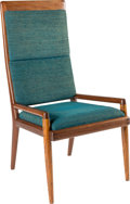 Furniture : American, Sam Maloof (American, 1916-2009). Armchair. Californiawalnut, Jack Lenor Larsen upholstery. 43 x 22 x 22 inches (109.2...