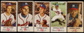 Baseball Cards:Lots, 1954 & 1955 Johnston Cookies Milwaukee Braves Cards (5) &Panel (4) Collection. ...