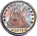 Proof Seated Quarters, 1873 25C Arrows PR65 PCGS....