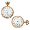 Timepieces:Pocket (post 1900), Illinois & Elgin 17 Jewels Open Face Pocket Watches. ... (Total: 2 Items)