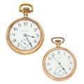 Timepieces:Pocket (post 1900), Hamilton & Elgin 17 Jewels Pocket Watches. ... (Total: 2 Items)