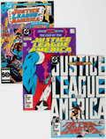 Modern Age (1980-Present):Superhero, Justice League of America Box Lot (DC, 1983-93) Condition: AverageVF/NM....