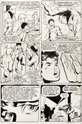 Original Comic Art:Panel Pages, Neal Adams and Dick Giordano Hot Wheels #6 Story Page 11Original Art (DC, 1971)....