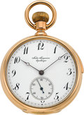 Timepieces:Pocket (pre 1900) , Jules Jurgensen Rose Gold Five Minute Repeater, circa 1890's. ...