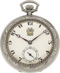 Timepieces:Pocket (post 1900), Dudley Watch Co. 14k Gold Model 1, No. 1563, circa 1923. ...