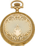 Timepieces:Pocket (pre 1900) , Elgin Unused Gold 16 Size 21 Jewel Hunters Case, circa 1896. ...