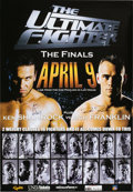 Autographs:Others, UFC Ultimate Fight 1 Official Card Signed Poster. ...