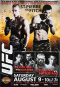 Autographs:Others, UFC 87 Official Card Signed Poster. ...