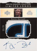 Basketball Cards:Singles (1980-Now), 2003 Upper Deck Exquisite Kevin Garnett Limited Logos Patch Autograph 15/75. ...
