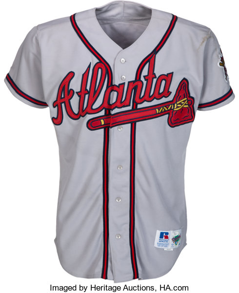 size 40 767f7 79ee3 1995 Greg Maddux Game Worn Atlanta Braves Jersey--Cy Young ...