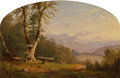 Fine Art - Painting, American:Antique  (Pre 1900), John Williamson (American, 1826-1885). View from the Bluff,1861. Oil on canvas. 12 x 18 inches (30.5 x 45.7 cm). Initia...