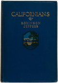Books:Fiction, Robinson Jeffers. ADVANCE REVIEW COPY. Californians. NewYork: The Macmillan Company, 1916....