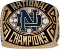 Football Collectibles:Others, 1988 Notre Dame Fighting Irish National Championship Salesman's Sample Ring. ...