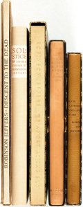 Books:Fiction, Robinson Jeffers. Group of Five SIGNED/LIMITED Titles. RandomHouse, [various dates].... (Total: 5 Items)