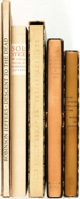 Robinson Jeffers. Group of Five SIGNED/LIMITED Titles. Random House, [various dates]