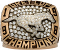 Football Collectibles:Others, 1998 Calgary Stampeders Grey Cup CFL Championship Player's Ring, With Original Wood Box. ...