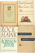 Books:Fiction, Robinson Jeffers. Group of Four Titles, One of Which is INSCRIBED.Random House, [various dates].... (Total: 4 Items)