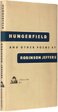 Books:Fiction, Robinson Jeffers. SIGNED. Hungerfield and Other Poems. NewYork: Random House, [1954]....