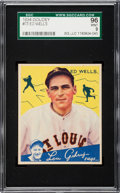 Baseball Cards:Singles (1930-1939), 1934 Goudey Ed Wells #73 SGC 96 MINT 9 - Pop One, None Higher. ...