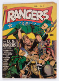 Golden Age (1938-1955):War, Rangers Comics #9 (Fiction House, 1943) Condition: VG/FN....