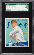 Baseball Cards:Singles (1930-1939), 1934 Goudey John Stone #40 SGC 96 MINT 9 - Pop Two, None Higher....