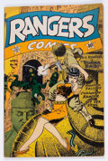 Golden Age (1938-1955):War, Rangers Comics #16 (Fiction House, 1944) Condition: FN-....