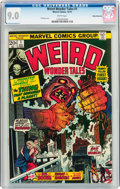 Bronze Age (1970-1979):Horror, Weird Wonder Tales #1 White Mountain Pedigree (Marvel, 1973) CGCVF/NM 9.0 White pages....