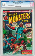 Bronze Age (1970-1979):Horror, Where Monsters Dwell #29 White Mountain Pedigree (Marvel, 1974) CGCNM+ 9.6 White pages....