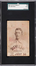 Baseball Cards:Singles (Pre-1930), 1893 Just So Tobacco Charlie M. Hastings SGC 10 Poor 1 - The OnlyGraded Example! ...