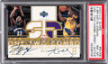 Basketball Collectibles:Others, 2002 Upper Deck Glass Kobe Bryant/Michael Jordan One - Two ComboDual Jersey Autograph 23/25 #MJ/KB PSA NM-MT 8....