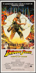 "Movie Posters:Adventure, Indiana Jones and the Temple of Doom (Paramount, 1984). AustralianPost-War Daybill (13.25"" X 26.25""). Adventure.. ..."
