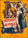 """Movie Posters:Foreign, Forbidden to the Public (Omnium International Du Film, 1949). French Grande (45"""" X 62""""). Foreign.. ..."""