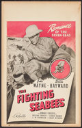 "Movie Posters:War, The Fighting Seabees (Republic, 1944). Window Card (14"" X 22"").War.. ..."