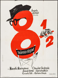 """8½ (Columbia, 1963). French Grande (47"""" X 63""""). Foreign"""