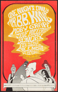 "One Night Only: Mr. B.B. King at The Fillmore Auditorium (Bill Graham, 1967). Concert Poster # 52 (14"" X 22.25""..."