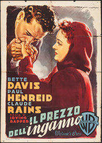 "Deception (Warner Brothers, 1949). Italian 2 - Fogli (39.5"" X 54.5""). Crime"