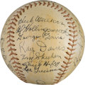 Baseball Collectibles:Hats, 1937 Cincinnati Reds Team Signed Baseball with Cuyler. ...