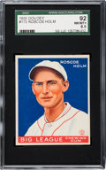 Baseball Cards:Singles (1930-1939), 1933 Goudey Roscoe Holm #173 SGC 92 NM/MT+ 8.5 - Pop One, NoneHigher. ...