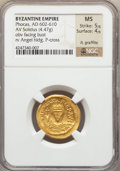 Ancients:Byzantine, Ancients: Phocas (AD 602-610). AV solidus (4.47 gm). ...