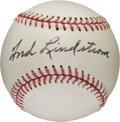 Baseball Collectibles:Balls, 1960's Freddie Lindstrom Single Signed Baseball....