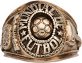 Miscellaneous Collectibles:General, 1970 World Cup Gold Ring Presented to Brazil Team Member....